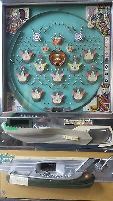 "Rare Vintage Well Preserved 1974 Nishijin ""Powerflash Chinaman"" Pachinko Machine"