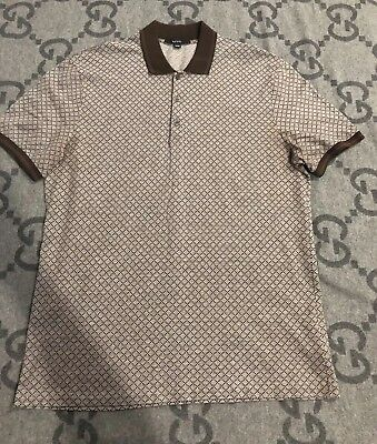 aa550de5 100% Authentic Gucci Polo Brown Shirt With Green & Red Trim Size Xxxl Rare!
