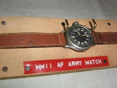Vintage 1944 World War II, A.F. US Army Air Corps Elgin A-11 Hacking Watch