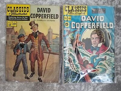 Two Editions Of Classics Illustrated David Copperfield, 1947