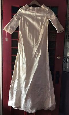 Vintage 1950's Wedding Dress Union Made ILGWU AFL-CIO lace repurpose or reuse~!