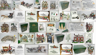 Dept 56 Collection, 23 Pcs Total, 4 Bldgs, 19 Acc, Free Ship In Contiguous Usa