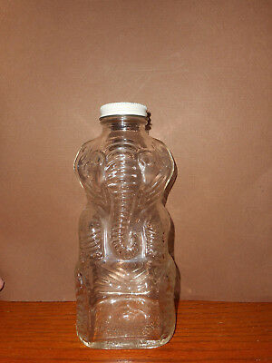 Vintage Grapette Products Clear Glass Elephant Bottle Jar Bank  Carnival art