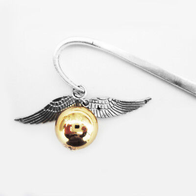 Brang New Wing Snitch Metal Bookmark Tibetan Silver Potterhead Birthday Gift