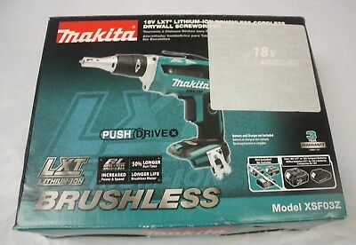 Makita XSF03Z 18V Cordless Drywall Screwdriver (Tool-Only) new
