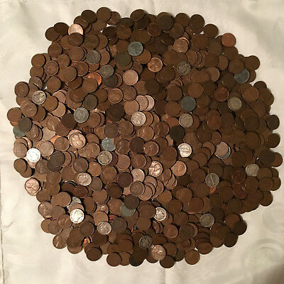 Lot of 1,500+ Wheat's, Indian Head's, & Mercury Dimes  -  Free Shipping !!