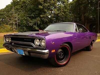 Plymouth Road Runner 440 Six Pack w/ N96 Air Grabber 1970 Plymouth Road Runner 440 Six Pack 4 Speed N96 Air Grabber Plum Crazy