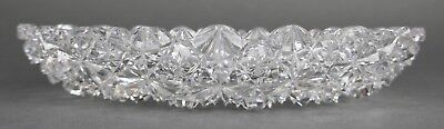 Fine Antique AMERICAN BRILLIANT Cut Crystal ABP Oval Platter Bowl 19th Cent