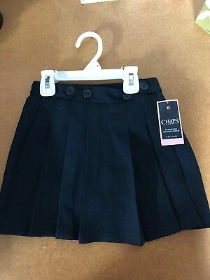 Girls Size 5 Chaps Approved Schoolwear Uniform Navy Pleated Skort New Nwt