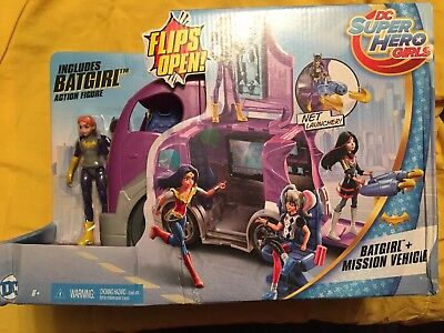 DC Super Hero Girls BATGIRL & MISSION VEHICLE Control Center & Net Launcher NIP