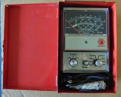 Vintage Matco Tools Usa Et-390 Electrical Systems Analyzer In Mac Tool Case