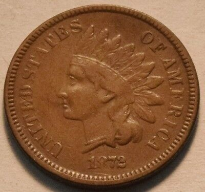 1872 Indian Head Cent, Middle Grade, Scarce, Semi-KEY Date Penny, Nice 1C Coin