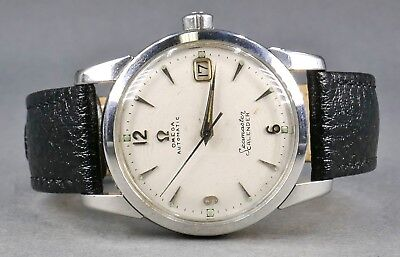 Fine Vtg 1955 OMEGA SEAMASTER Automatic Calender Stainless 503 19 Jewels Watch