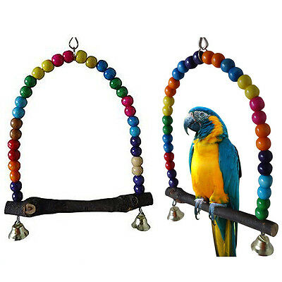 Swing Bird Toy Parrot Cage Toys Finch Parakeet Cockatiel Lovebird Budgie