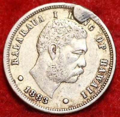 1883 Hawaii Silver 10 Cent Foreign Coin