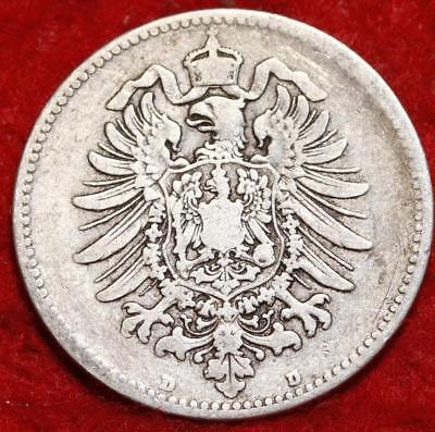 1874-D Germany Mark Silver Foreign Coin