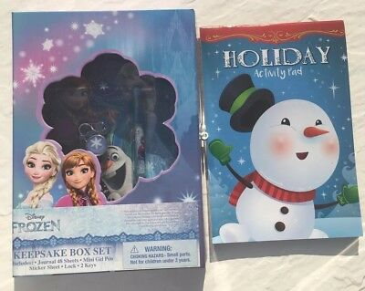 Disney Frozen Keepsake Box Set With Activity Pad Gift for Girls/ Kids