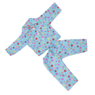 """For 18"""" American Girl Doll Pajamas Suit Girl Doll Clothes Accessory 2pcs"""