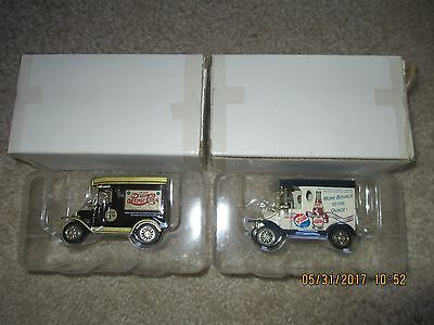 Vintage Pepsi Die Cast Trucks 1930's Replicas New in Packages Lot of 2