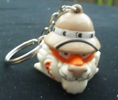 Vintage Exxon Tiger Key Ring Safari Keychain