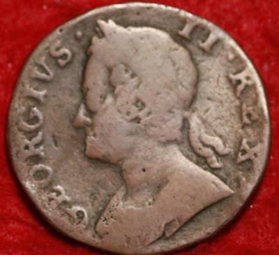 1750 Great Britain 1/2 Penny Foreign Coin