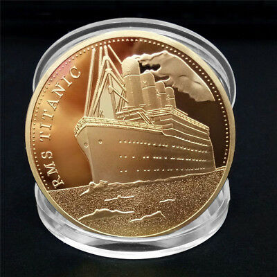 Titanic Ship  Collectible BTC Coin Collection Arts Bitcoin Gift Physical XU