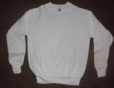LOT OF 5 - Boys Size 14/16 - White Sweatshirts - Made in USA - Fruit of the Loom