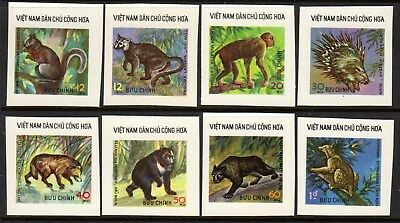 1976 NORTH VIETNAM WILD ANIMALS imperf SGN850-857 mint no gum as issued