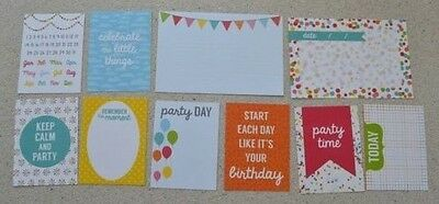 Birthday Party Journal Card Inserts, for Planner, Scrapbook, life project
