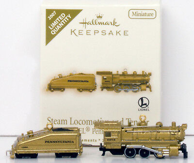 2007 Lionel STEAM LOCOMOTIVE TENDER NEW Hallmark Pennsylvannia B6 Mini 2 LIMITED