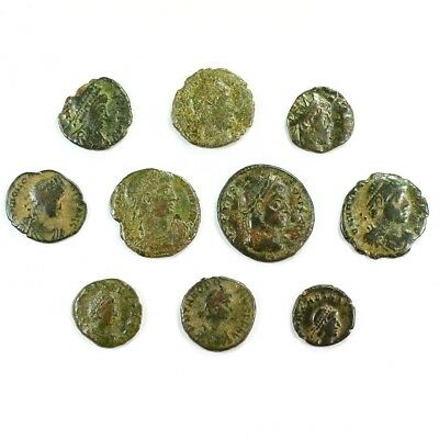 Ten (10) Nicer Ancient Roman Coins c. 100 - 375 A.D. Exact Lot Shown rm3230