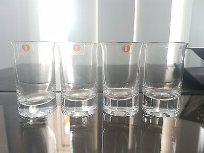 iittala Shot Glasses Set of 4 New Condition