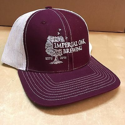 Imperial Oak Brewing Trucker Cap Illinois Craft FREE SHIPPING