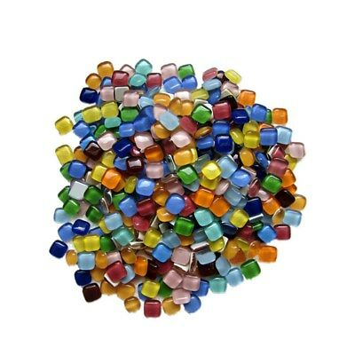600g 12x12mm Mixed Colour Vitreous Glass Mosaic Tiles DIY Art & Craft Supplies