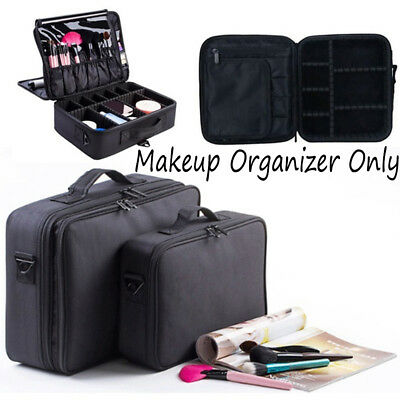 Professional 3 Layers Large Capacity Travel Makeup Storage Bag Cosmetic Case