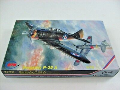 MPM 1:72 Seversky P-35A 72070 Limited Edition Kit Photo Etched Parts Bausatz OVP