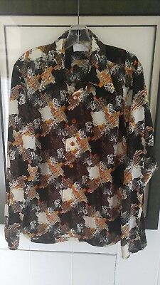 Vintage Damon Design Long Sleeve Button Men's Size L