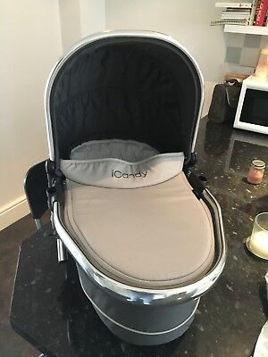 iCandy Peach Blossom Twin Carrycot - Truffle - Excellent Condition