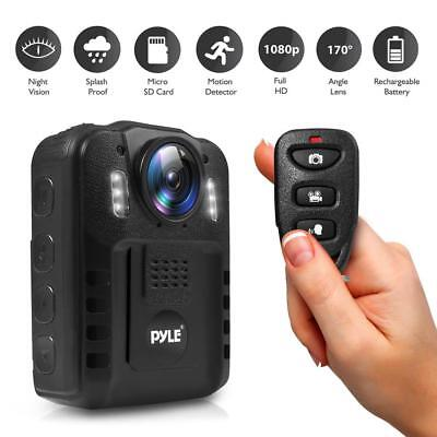 Compact Portable Hd Body Camera Camcorder Wireless Person Worn Night Vision Lcd