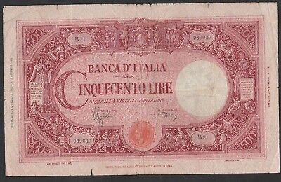 500 Lire From Italy 1943