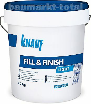 Knauf Fill & Finish Light 20kg Spachtelmasse Trockenbau Fugenspachtel SHEETROCK
