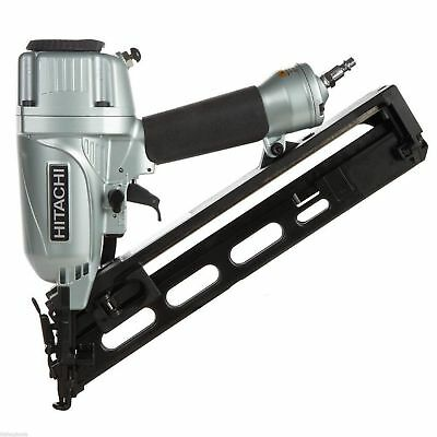 "Hitachi NT65MA4 15Gauge 2-1/2"" Angled Finish Nailer Gun with Air 2"