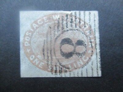 Western Australia Stamps: 1/- Swan Used - slight tear at top still great   {g8}