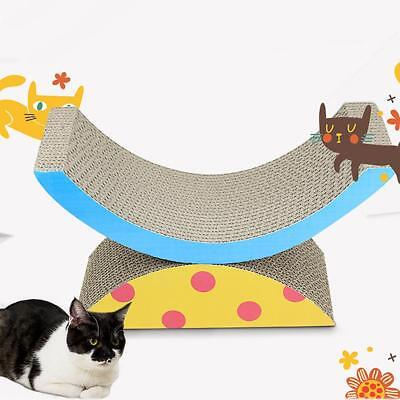 Cat Grab Scratch Board Corrugated Paper Claw Grinder Teeterboard Pet Play Toys