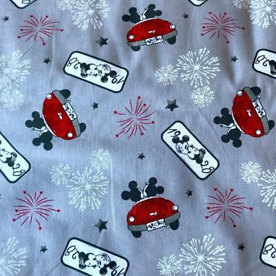 Hello Little One 100/% Cotton Fabric Disney Mickey Mouse 38850