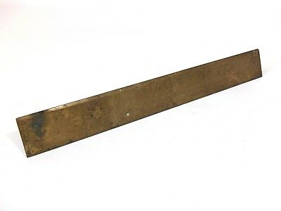Rare Antique Brass Gunter's Rule Scale Thomas Wright Early 18th Century Fecit