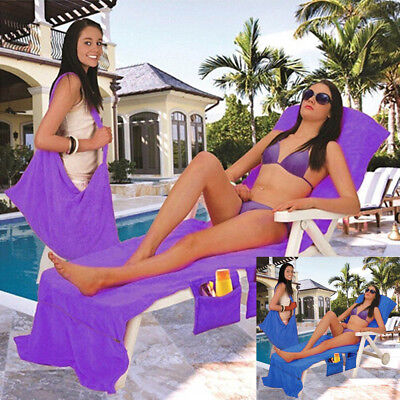 New Lounger Beach Towel Sun Lounger For Holiday Garden Lounge Mate With Pockets