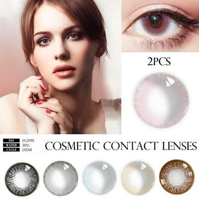 Multicolor 1 Pair of Ice Dew Mermaid Style Cosmetic Contact LensesParty Cosplay