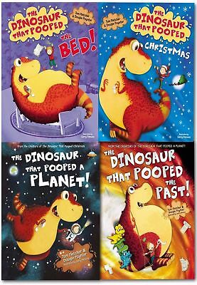 The Dinosaur That Pooped Collection Tom Fletcher (4 Books) New PB RRP:£27.96