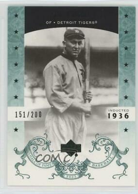 2005 Upper Deck Hall of Fame Green/200 #81 Ty Cobb Detroit Tigers Baseball Card